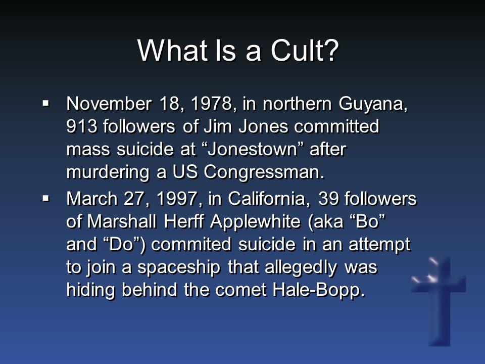 Message. Cults are unusual and bizarre.  Cults are rare.
