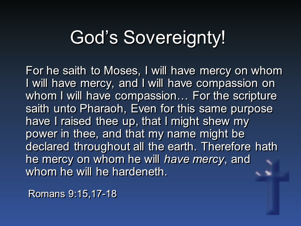 God's Sovereignty.