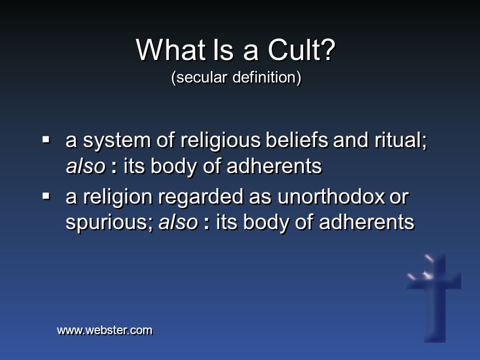 Manipulative Practices: In addition to the doctrinal characteristics of cults, many (not all) cults also have sociological traits.