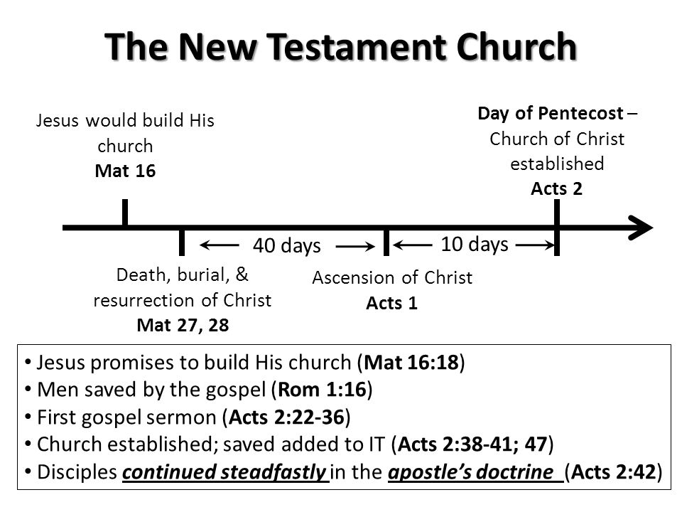 New Testament Conversions Day of Pentecost Acts 2 Ethiopian Eunuch Acts 8 Cornelius & His Household Acts 10 Samaritans Acts 8 Saul of Tarsus Acts 9 Philippian Jailor Acts 16 Hear (Acts 2:22)Confess (Acts 8:37) Believe (Acts 8:37) Be Baptized (Acts 2:38, 41) Repent (Acts 2:38)