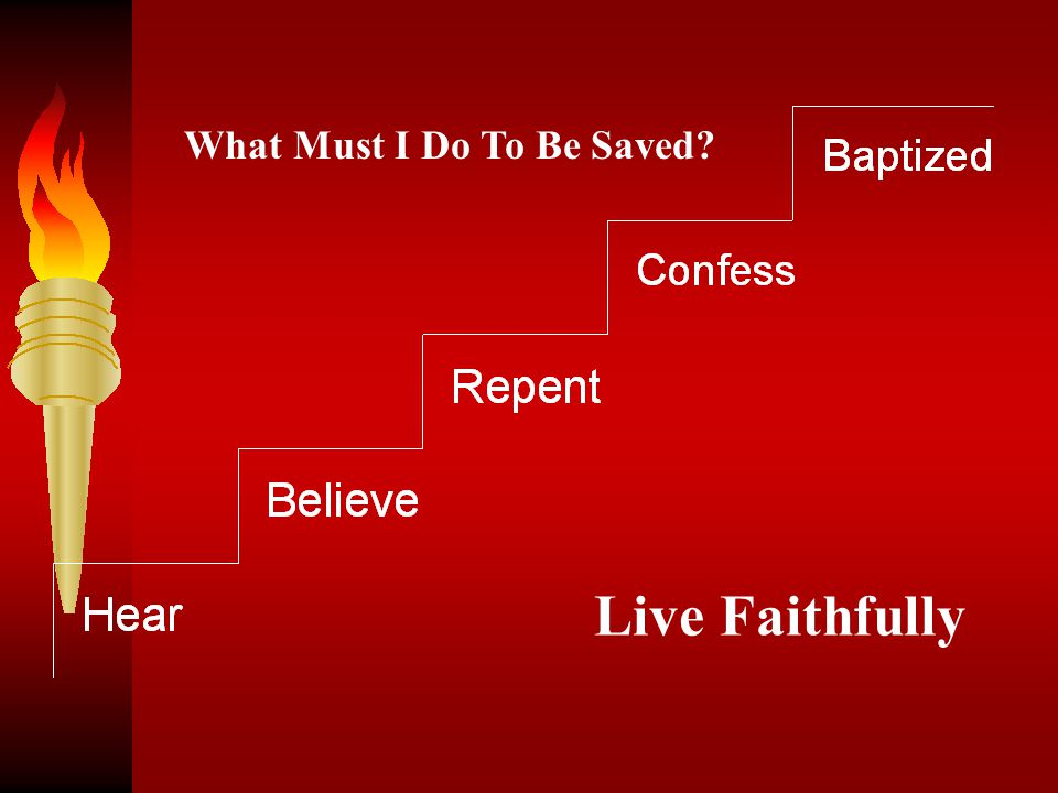 What Must I Do To Be Saved? Live Faithfully
