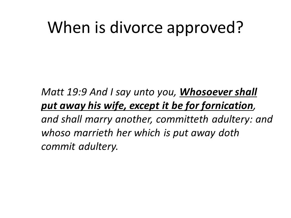 When is divorce approved.