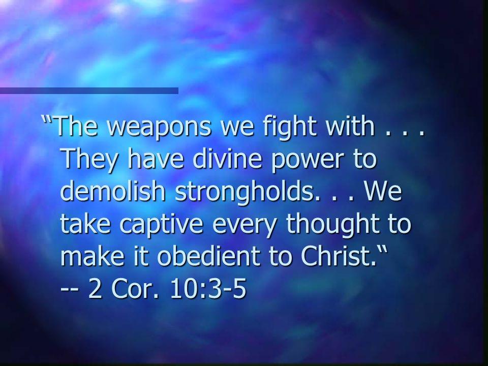 Spiritual Warfare (End) Howard Culbertson Southern Nazarene University