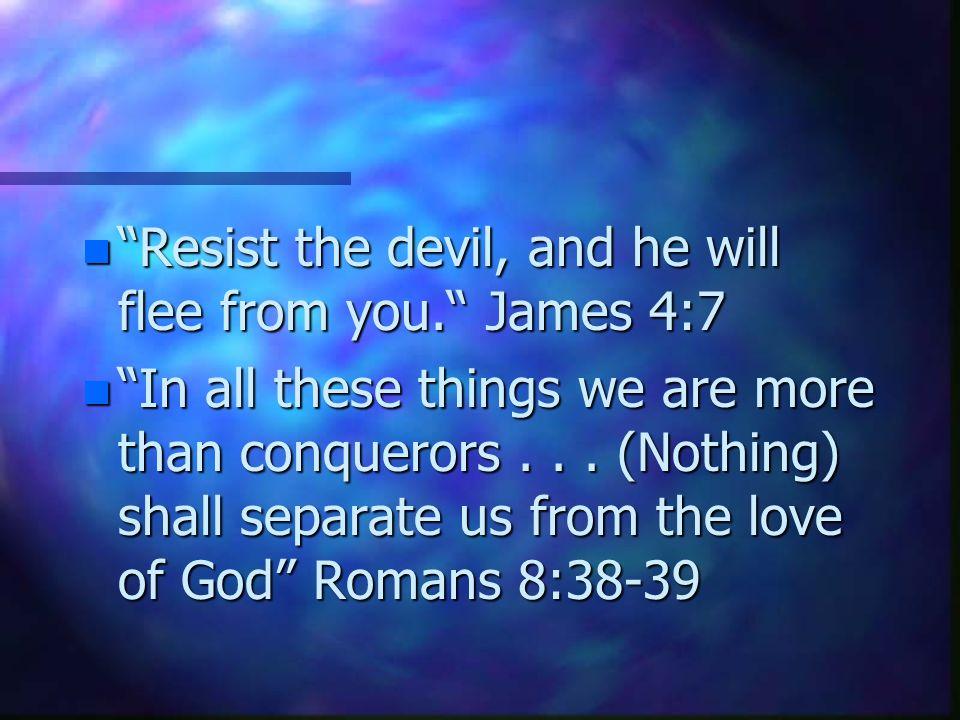 Commitment to spiritual warfare 4.