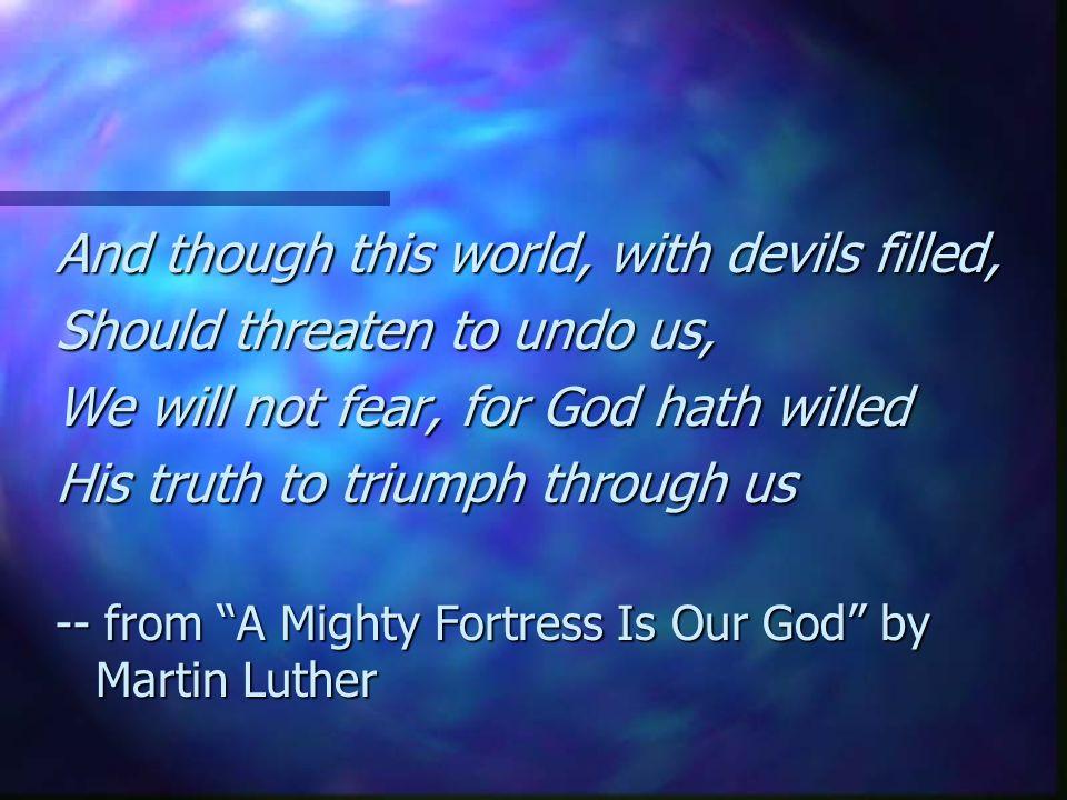 Commitment to spiritual warfare 5.