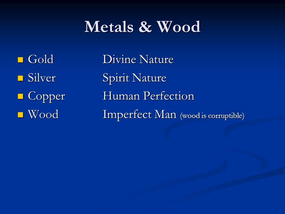 Metals & Wood GoldDivine Nature GoldDivine Nature SilverSpirit Nature SilverSpirit Nature CopperHuman Perfection CopperHuman Perfection WoodImperfect