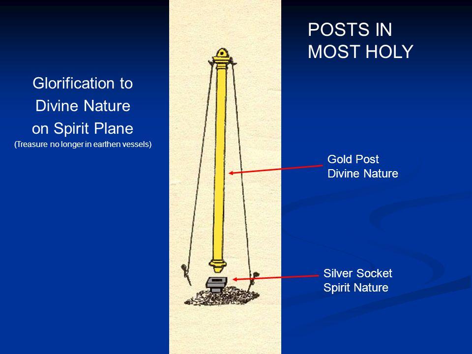 Silver Socket Spirit Nature Gold Post Divine Nature Glorification to Divine Nature on Spirit Plane (Treasure no longer in earthen vessels) POSTS IN MO