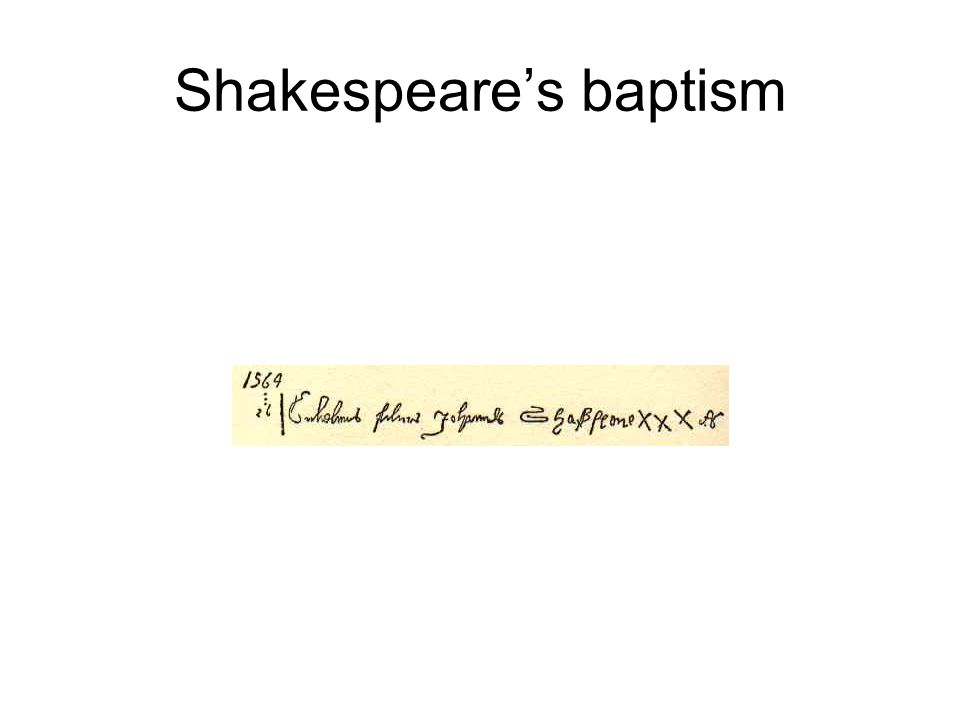 Shakespeare's baptism