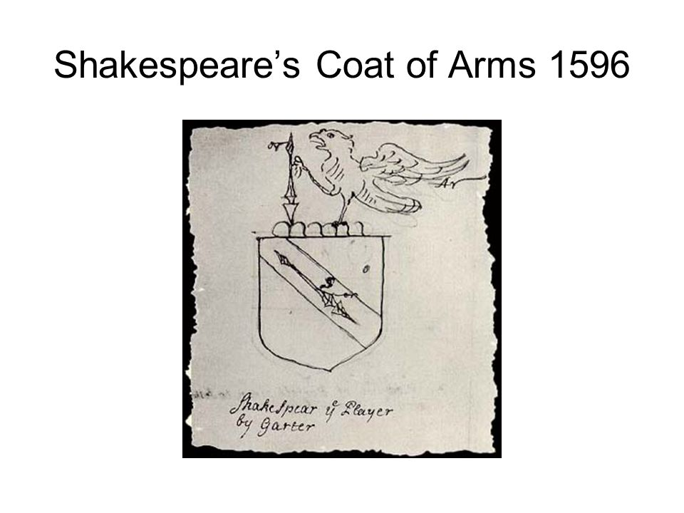 Shakespeare's Coat of Arms 1596