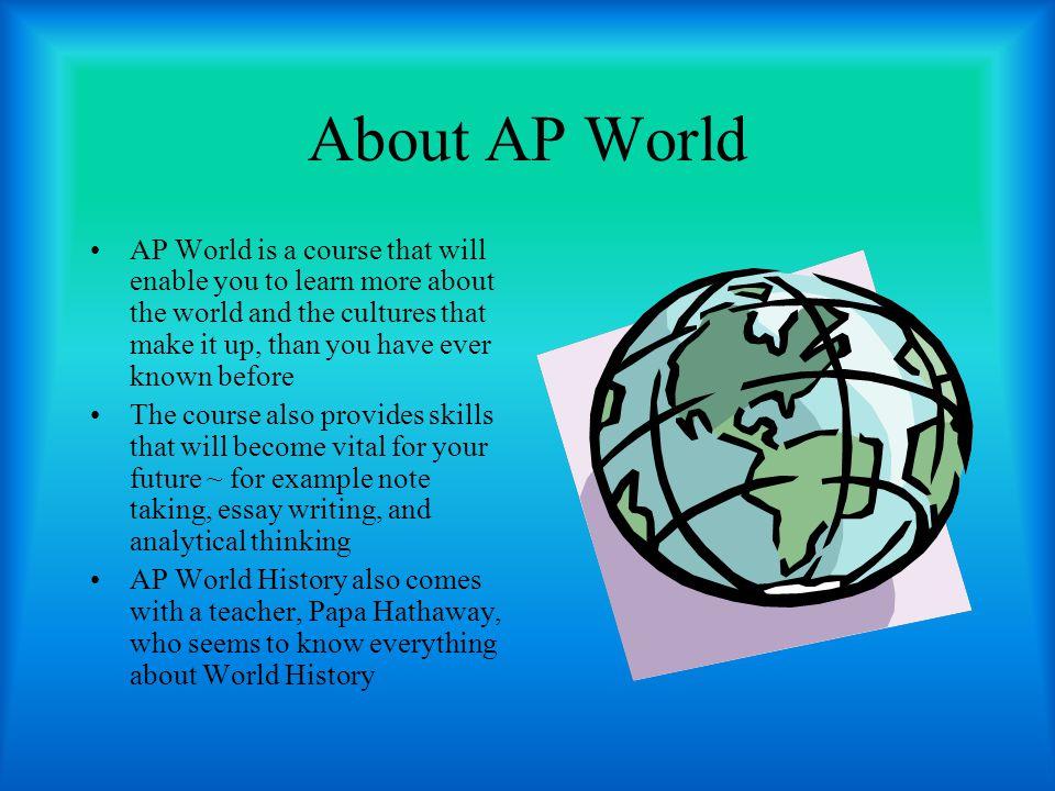 AP world 2010 comparison essay samples?