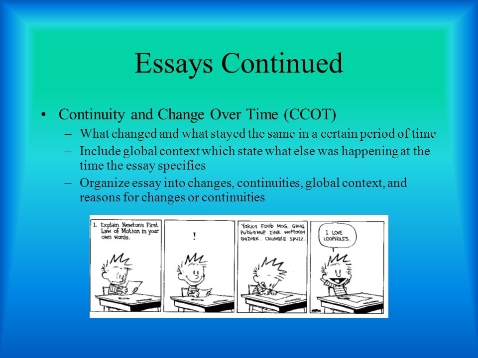 ap english language exam essay types Ap english language and composition each year, the ap english language exam includes three essay prompts the types of prompts vary from year to year.