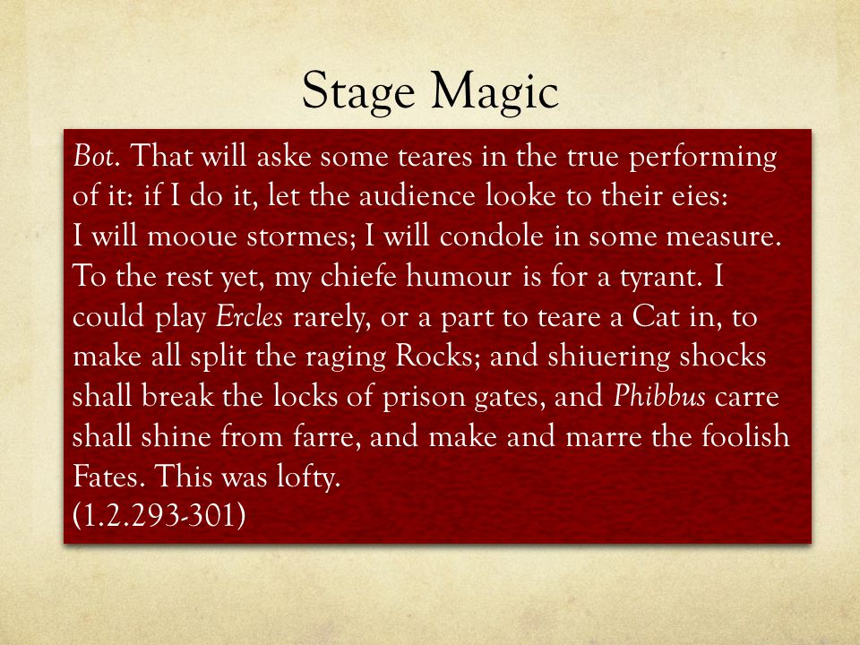 Stage Magic Bot.