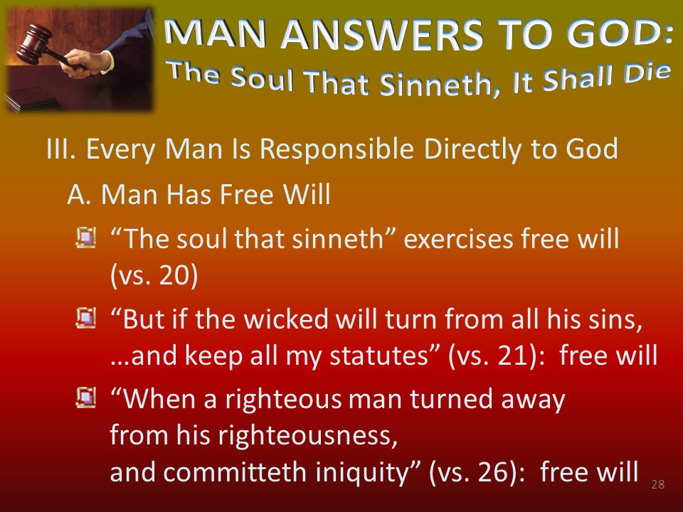 III. Every Man Is Responsible Directly to God A.