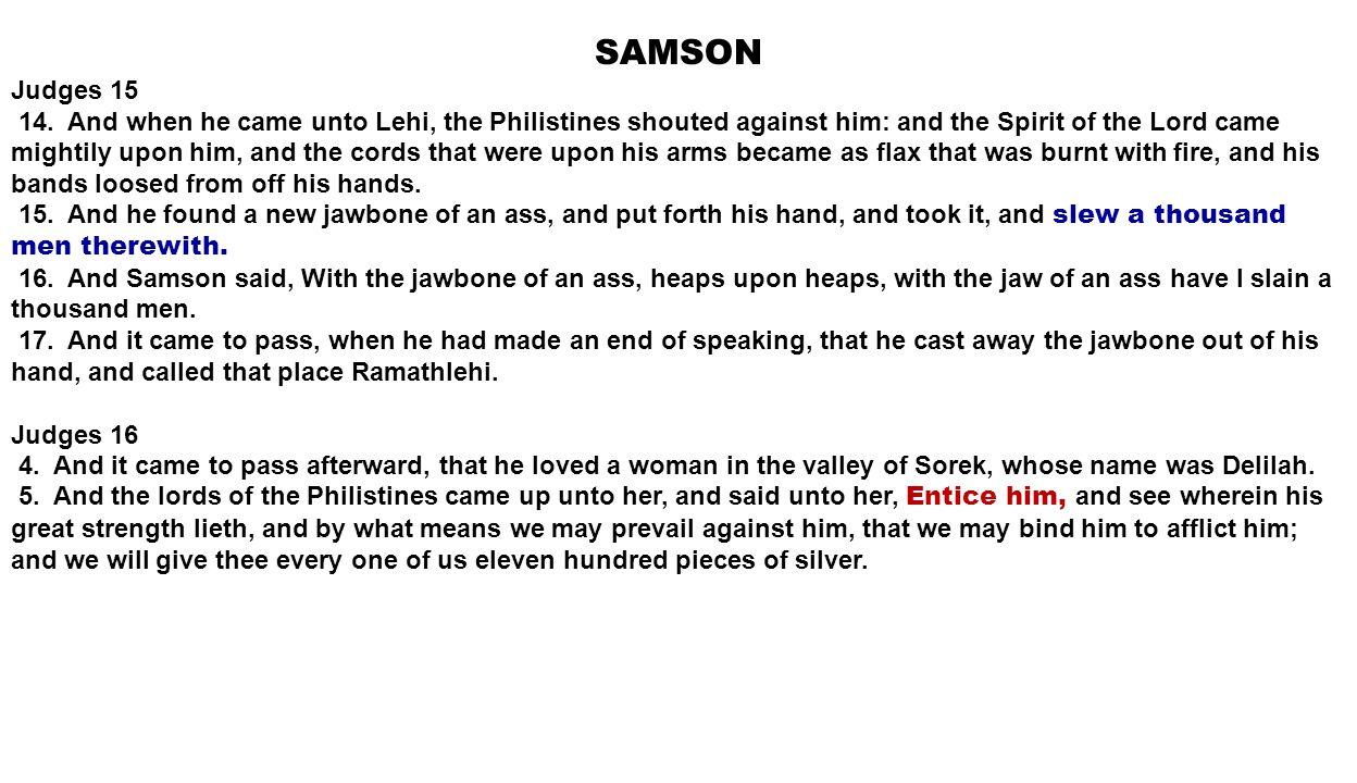 DAVID 1 Samuel 17 44.
