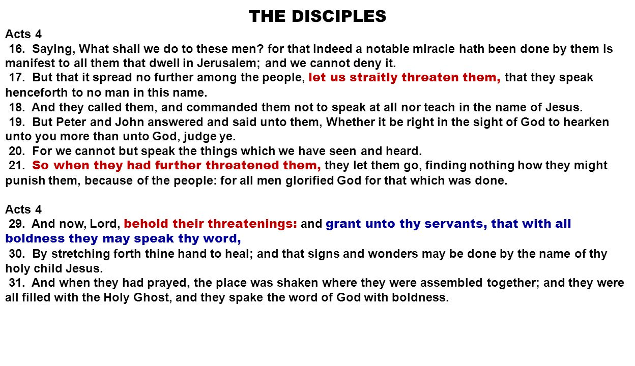 THE DISCIPLES Acts 8 1.And Saul was consenting unto his death.