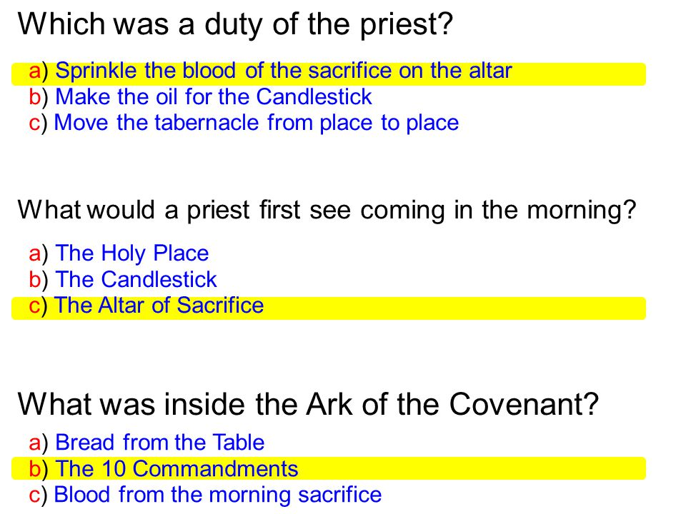 Which was a duty of the priest.