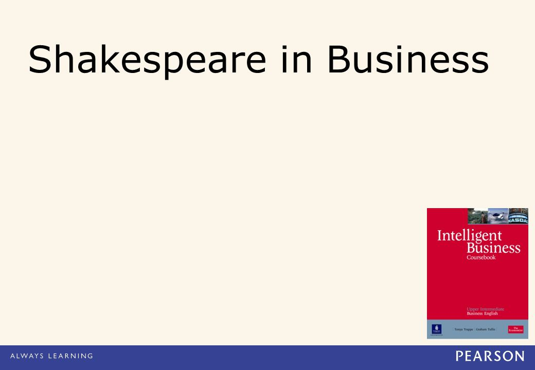 Shakespeare in Business