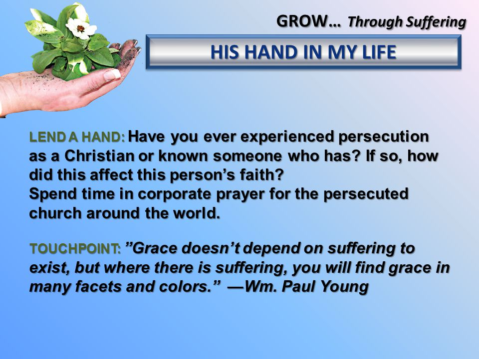 LEND A HAND: Have you ever experienced persecution as a Christian or known someone who has.