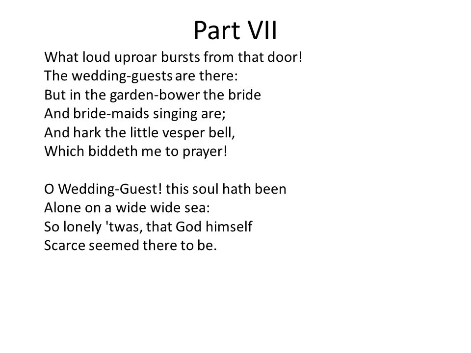 Part VII What loud uproar bursts from that door.