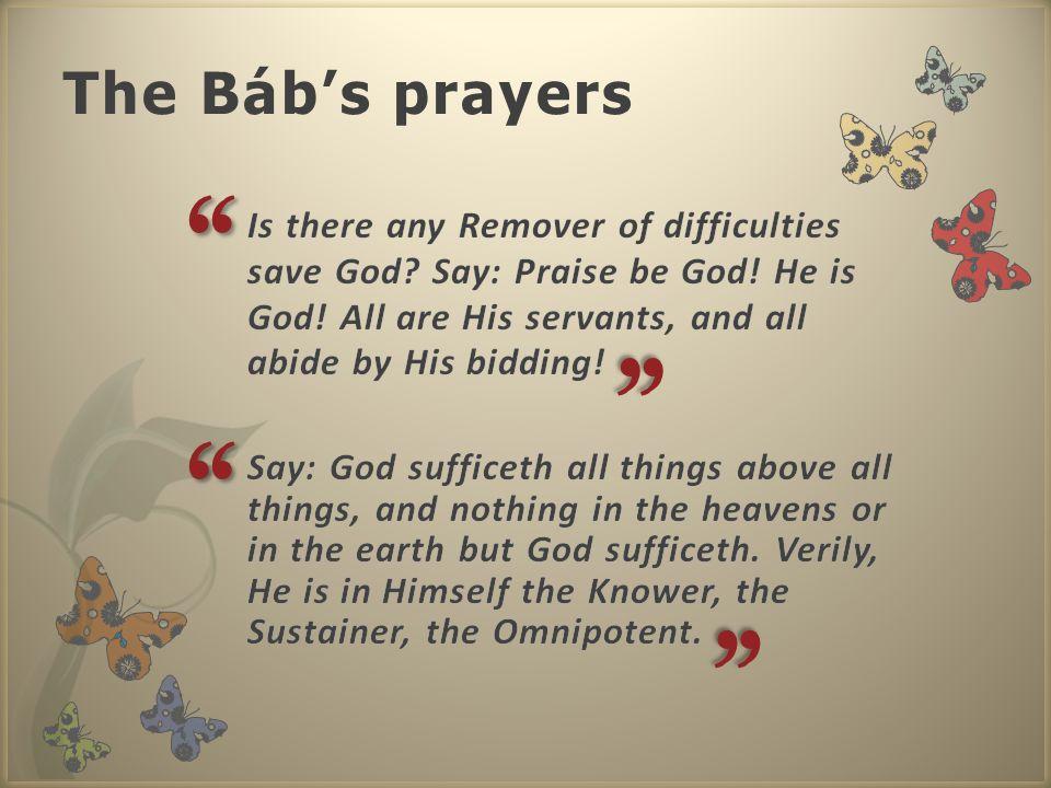 The Báb's prayers