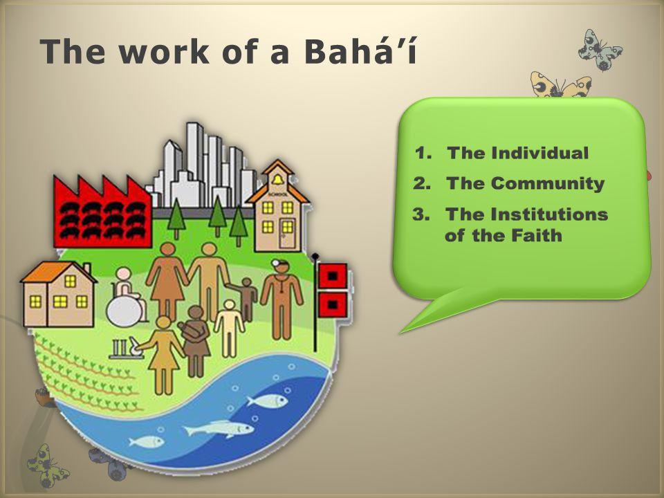The work of a Bahá'í