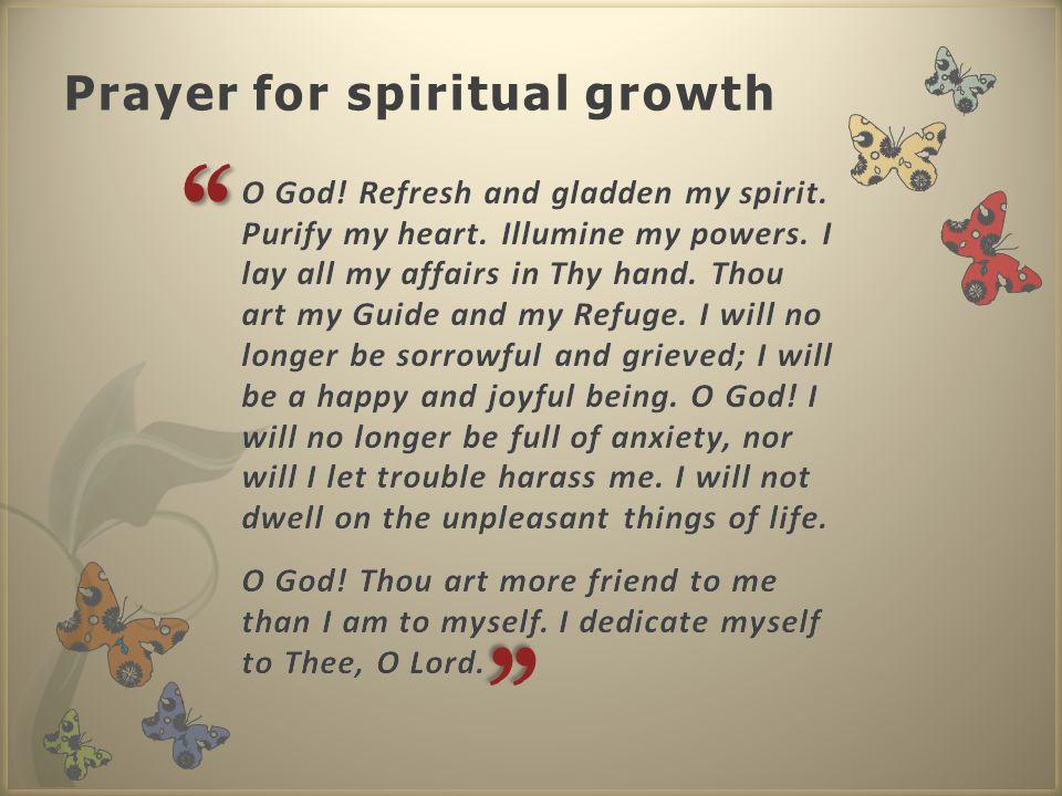 Prayer for spiritual growth