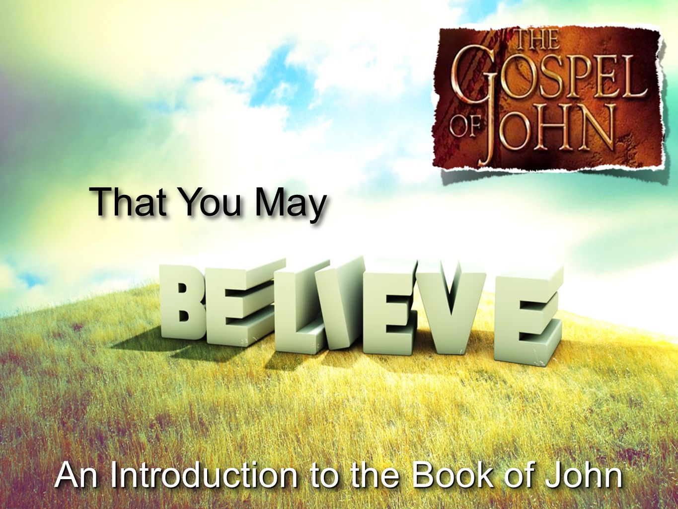That You May An Introduction to the Book of John
