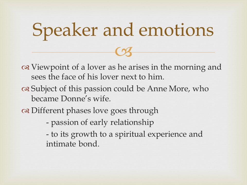   Re-awakening  Nature/completeness of lovers' world Themes