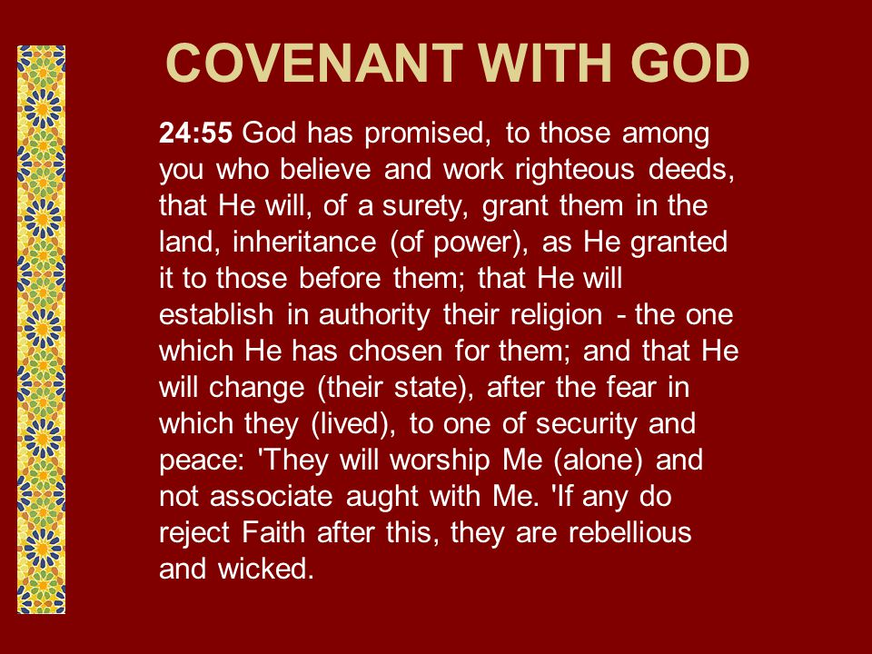 COVENANT WITH THE PEOPLE OF THE BOOK 3:81 Behold.