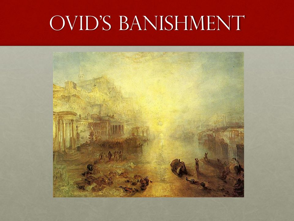Ovid's Banishment