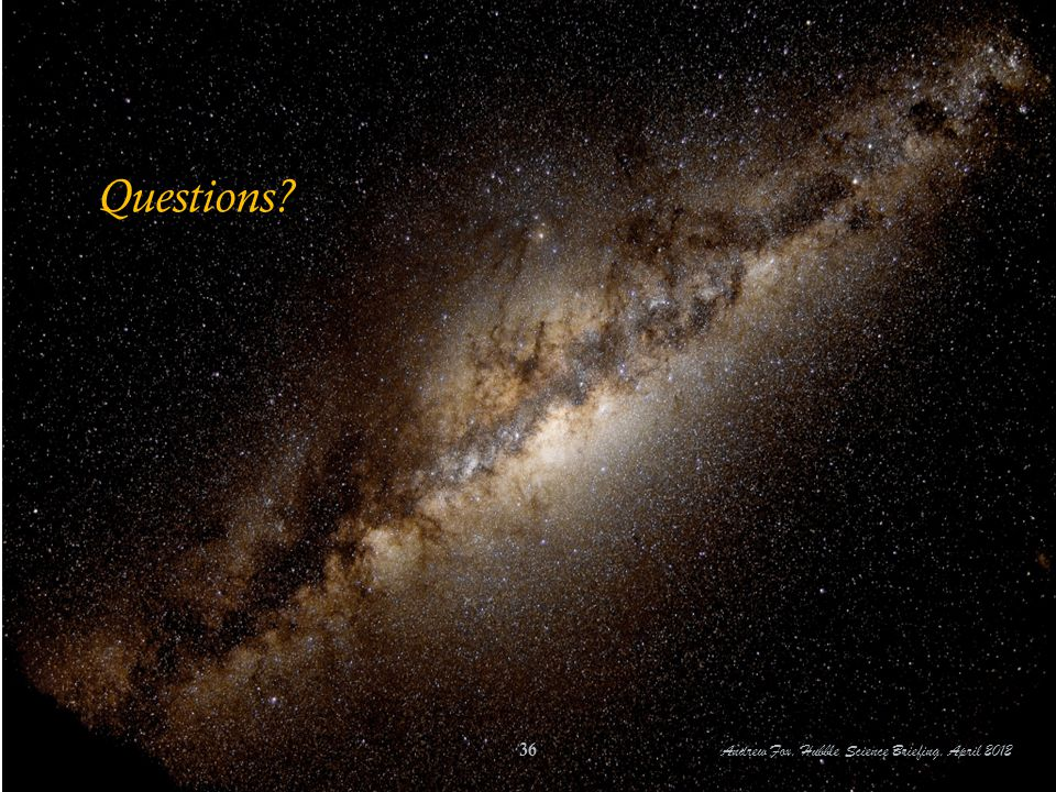 Questions? Andrew Fox, Hubble Science Briefing, April 2012 36