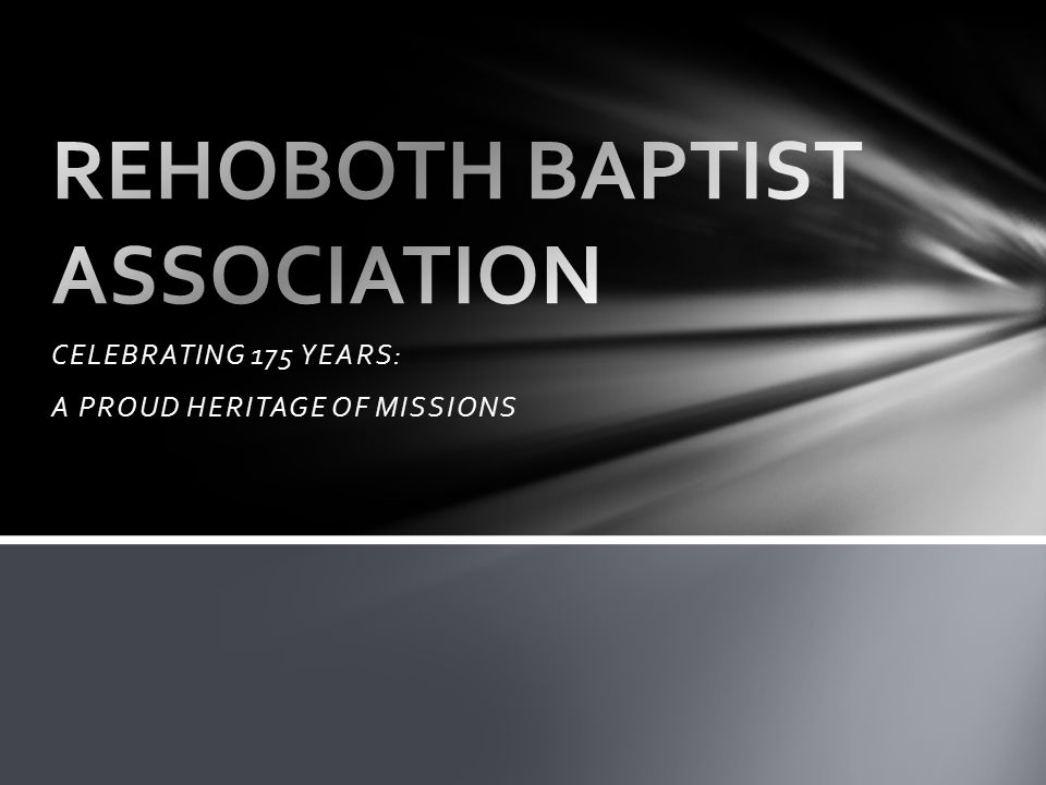 Rehoboth was birthed out of an association that made formal resolutions against the Convention...missionary societies...