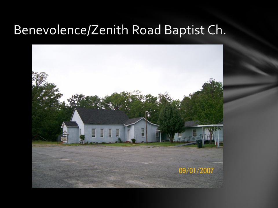 Benevolence/Zenith Road Baptist Ch.
