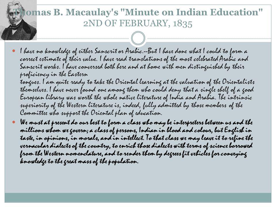 Thomas B. Macaulay's