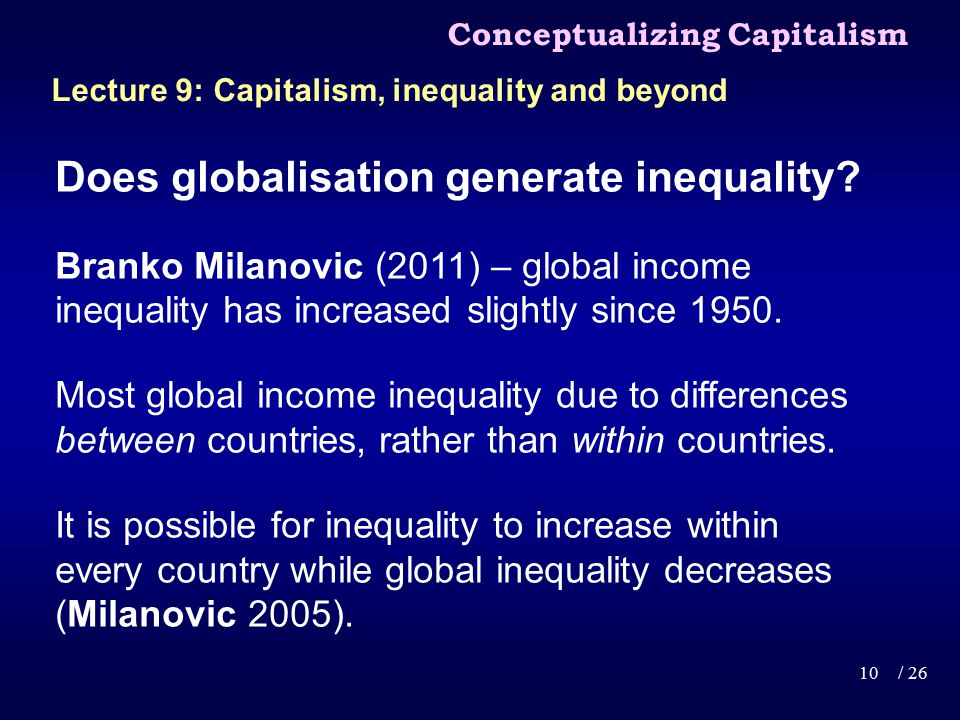 Does globalisation generate inequality.