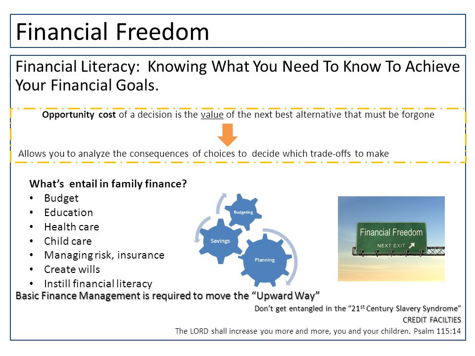 Financial Freedom Financial Literacy: Knowing What You Need To Know To Achieve Your Financial Goals.