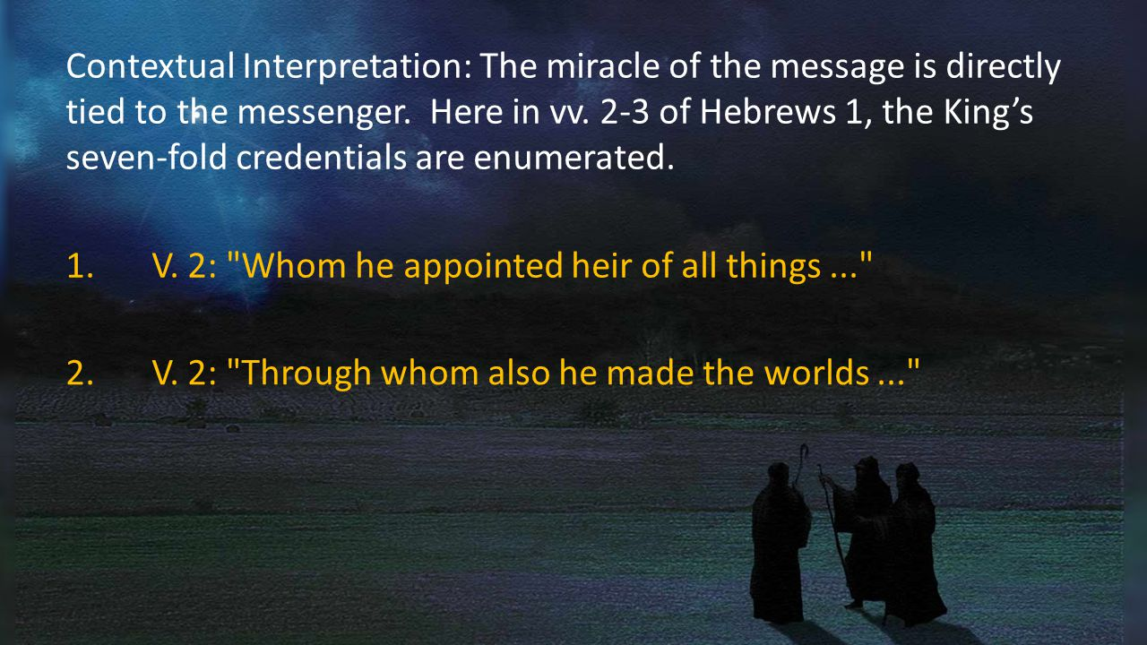 Contextual Interpretation: The miracle of the message is directly tied to the messenger.
