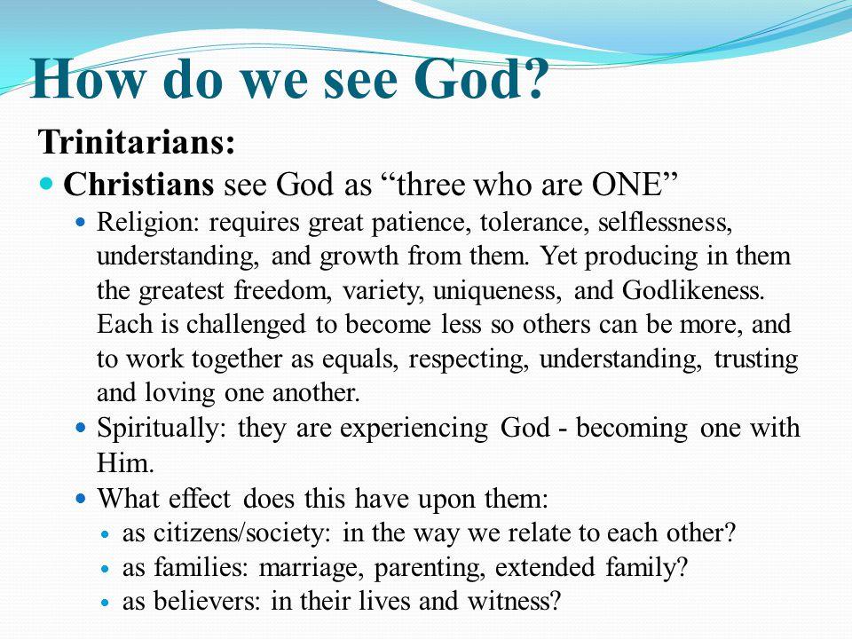 How do we see God.