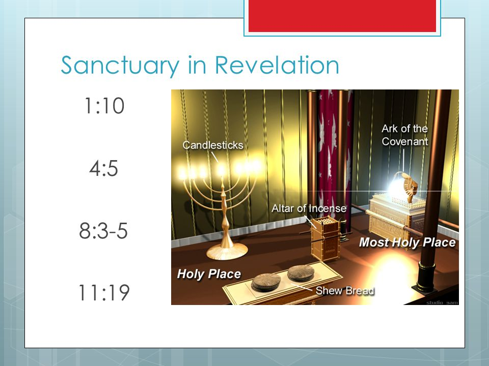 Sanctuary in Revelation 1:10 4:5 8:3-5 11:19