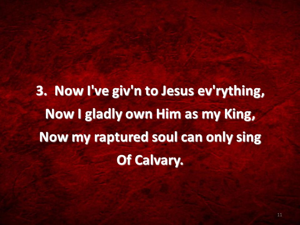 10 At Calvary [Refrain] Mercy there was great and grace was free, Pardon there was multiplied to me, There my burdened soul found liberty-- At Calvary