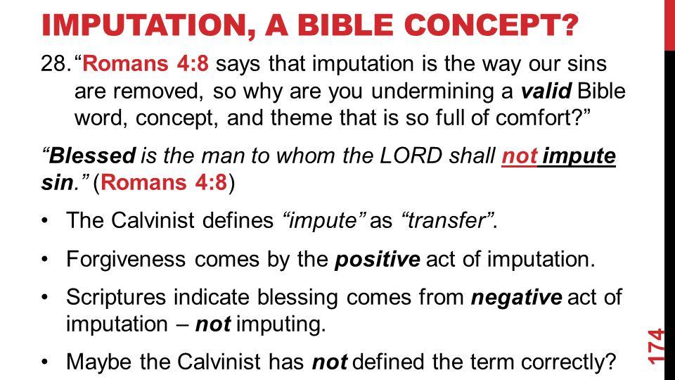 IMPUTATION, A BIBLE CONCEPT.