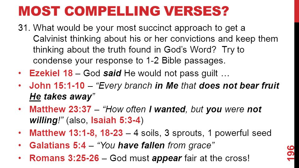 MOST COMPELLING VERSES.