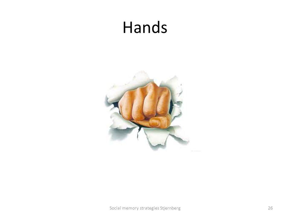 Hands Social memory strategies Stjernberg26