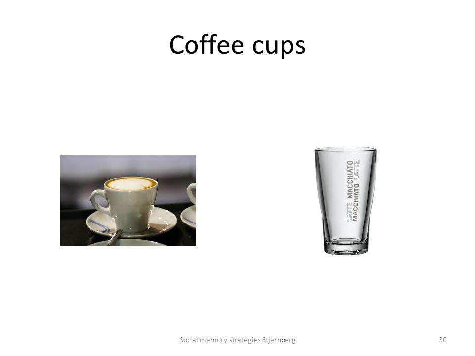 Coffee cups Social memory strategies Stjernberg30