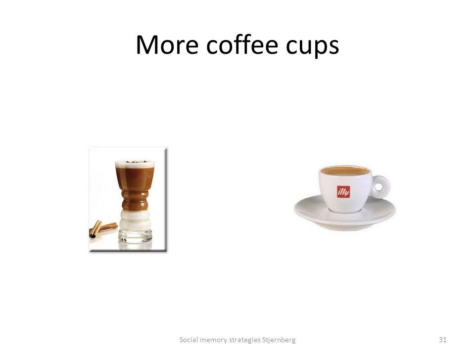 More coffee cups Social memory strategies Stjernberg31