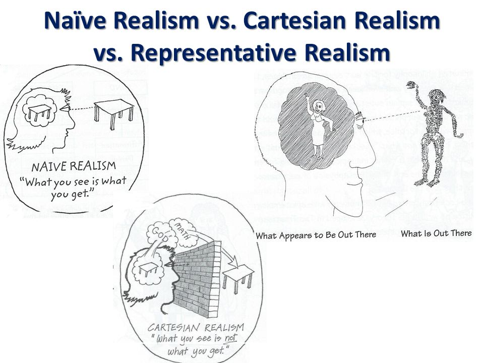 Naïve Realism vs. Cartesian Realism vs. Representative Realism