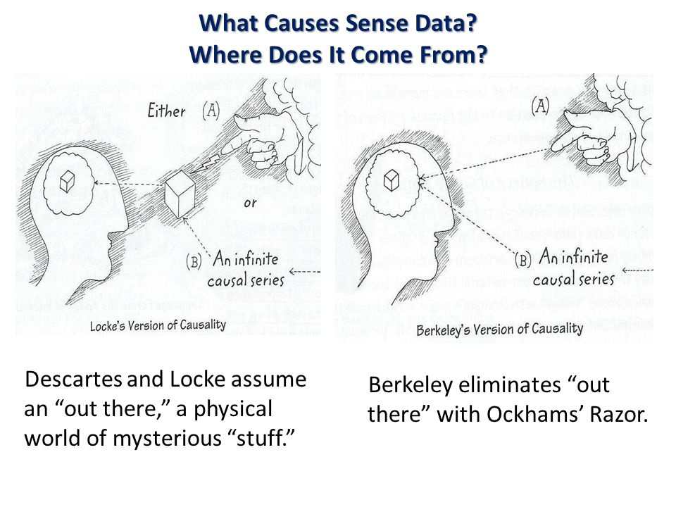 What Causes Sense Data. Where Does It Come From.