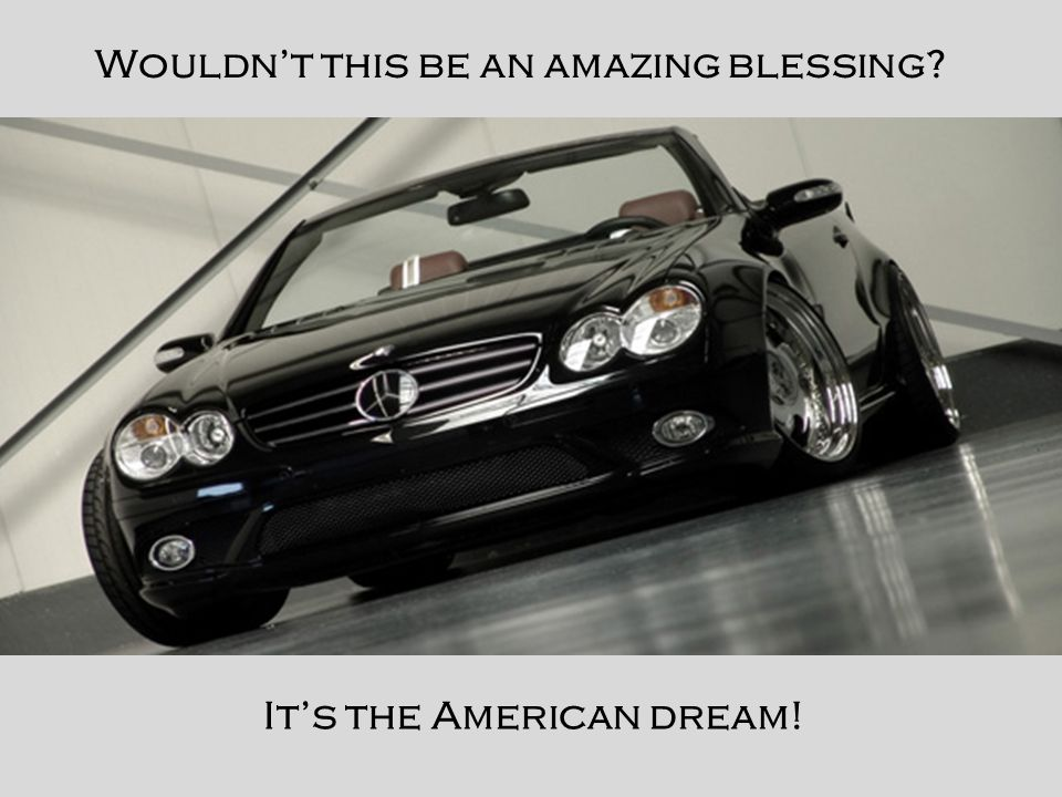 It's the American dream! Wouldn't this be an amazing blessing