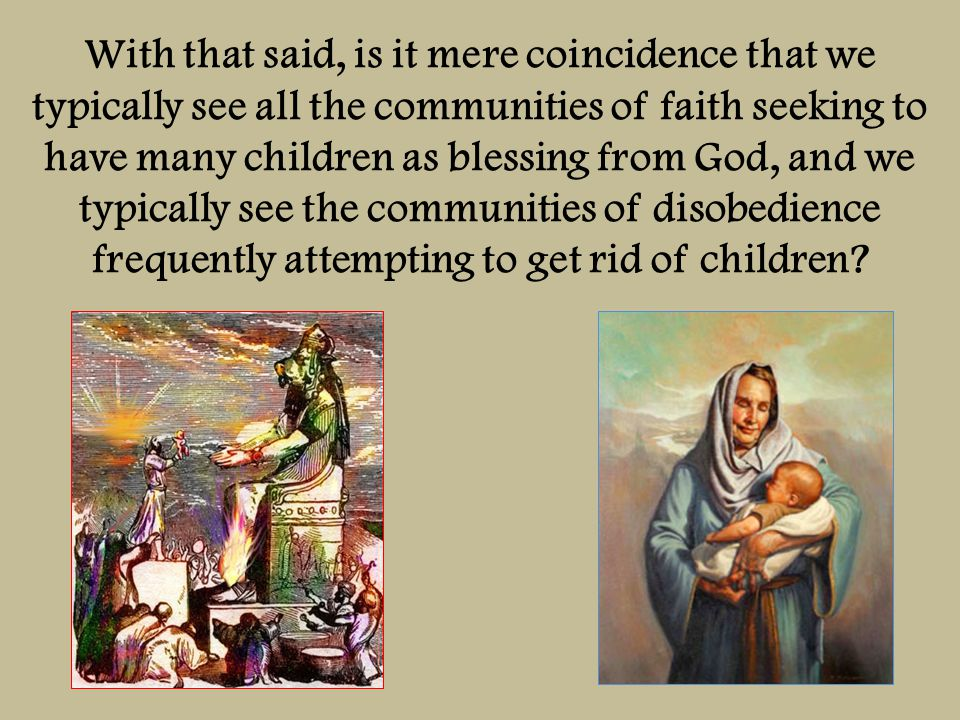Consider the covenant to Abraham of many descendents, land, and prosperity.