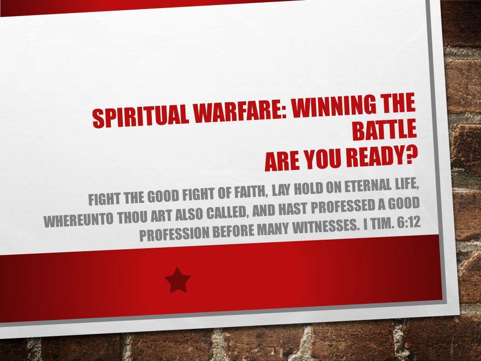 SPIRITUAL WARFARE WATCH YOUR FOCUS ST.MATT.